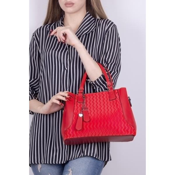 Women's Red Satin Casual Bag